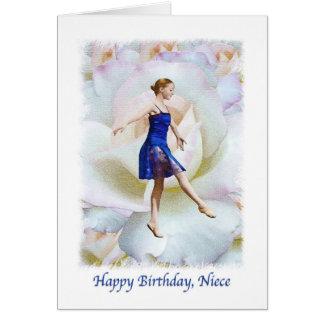 Cartão de aniversário da sobrinha com dançarino de