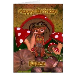 Cartão de aniversário da sobrinha com o duende mod
