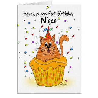 cartão de aniversário da sobrinha com o gato do cu