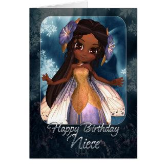 Cartão de aniversário da sobrinha - fada azul boni