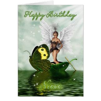 Cartão de aniversário da sobrinha - fada da cisne