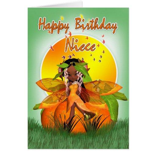 Cartão de aniversário da sobrinha - fada do citrin