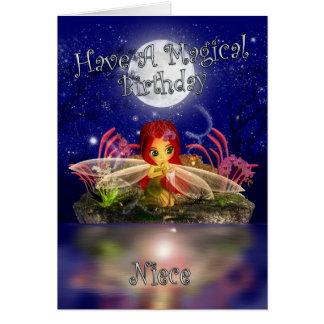 Cartão de aniversário da sobrinha - fada pequena b
