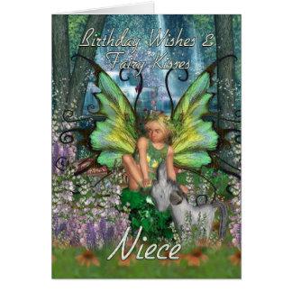 Cartão de aniversário da sobrinha - floresta Fa da
