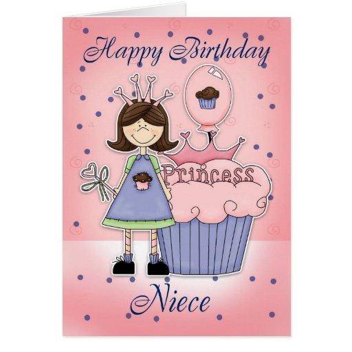 Cartão de aniversário da sobrinha - princesa do cu