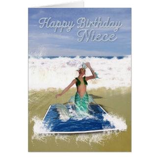 Cartão de aniversário da sobrinha - sereia da arte