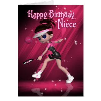 Cartão de aniversário da sobrinha - tênis