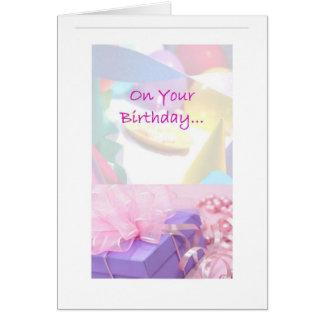 Cartão de aniversário da sociedade do alivio