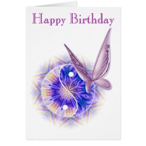 Cartão de aniversário da terapia da massagem