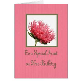 Cartão de aniversário da tia Cor-de-rosa Dália