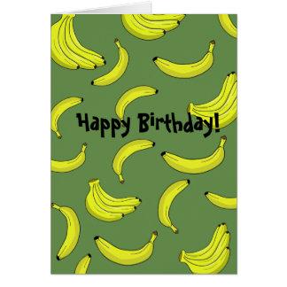 Cartão de aniversário das bananas
