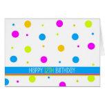 Cartão de aniversário das bolinhas coloridas 12o