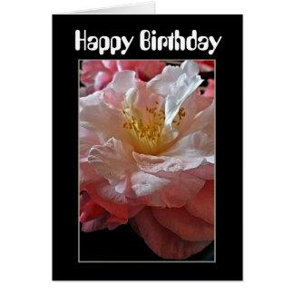Cartão de aniversário das camélias de Bloomin