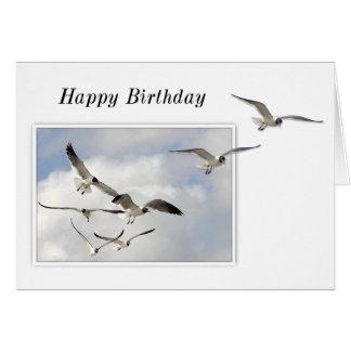 Cartão de aniversário das gaivotas