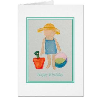 Cartão de aniversário das meninas cartão comemorativo