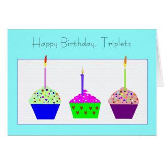 Cartão de aniversário das objectivas triplas