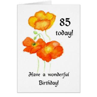 Cartão de aniversário das papoilas islandêsas 85th