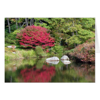 Cartão de aniversário das reflexões do jardim da