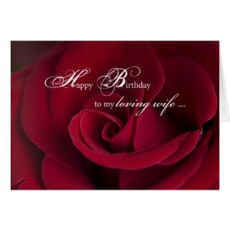 Cartão de aniversário das rosas vermelhas para esp