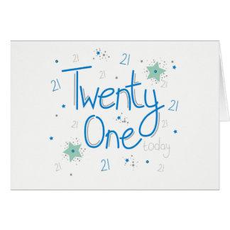 Cartão de aniversário de 21 anos