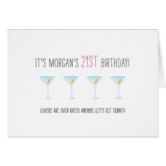 Cartão de aniversário de 21 anos engraçado - os