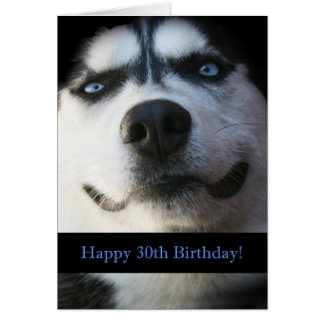 Cartão de aniversário de 30 anos engraçado ronco