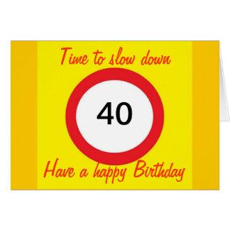 Cartão de aniversário de 40 anos