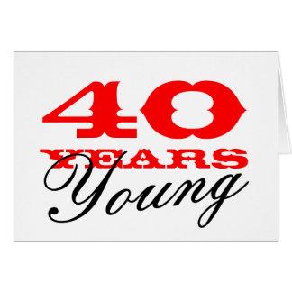 Cartão de aniversário de 40 anos por 40 anos de