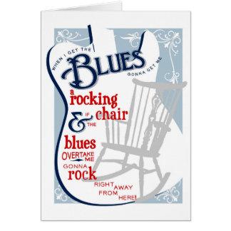 Cartão de aniversário de balanço dos azuis
