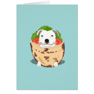 Cartão de aniversário de Bull do pão árabe