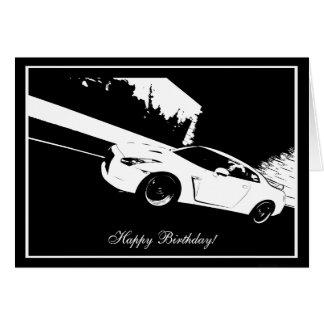 Cartão de aniversário de CarTheme do tiro do