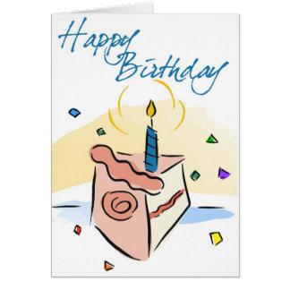 Cartão de aniversário de crianças do bolo de anive