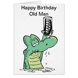Cartão de aniversário de Croc do ancião