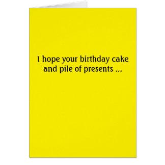 Cartão de aniversário de Donald Trump -- bolo e