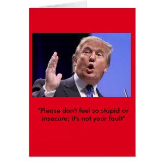 """Cartão de aniversário de Donald Trump -- """"Estada"""