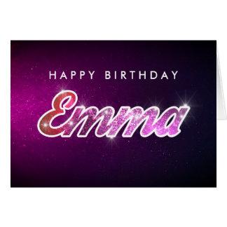Cartão de aniversário de Emma