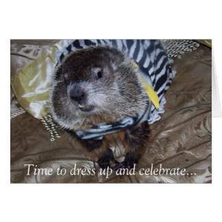 Cartão de aniversário de Groundhog Maude