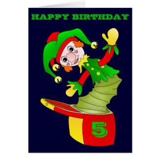 Cartão de aniversário de Jack in the Box,