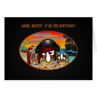 Cartão de aniversário de Kilroy do pirata