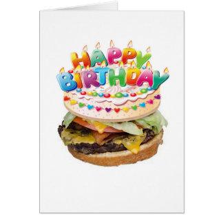Cartão de aniversário de luxe do Hamburger