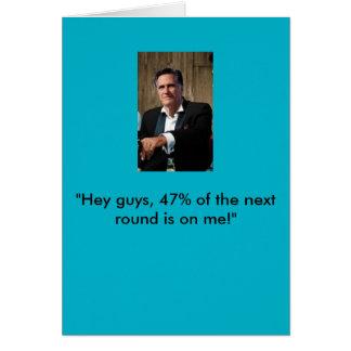 Cartão de aniversário de Mitt Romney