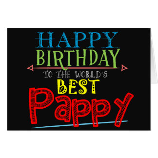 Cartão de aniversário de Pappy
