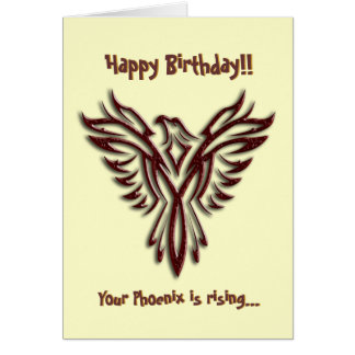 Cartão de aniversário de Phoenix do chocolate