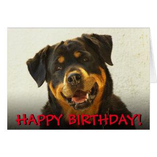 Cartão de aniversário de Rottweiler