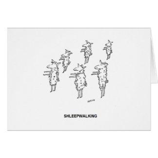 Cartão de aniversário de Shleepwalking