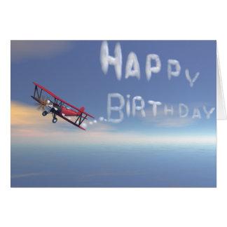 Cartão de aniversário de Skywriter