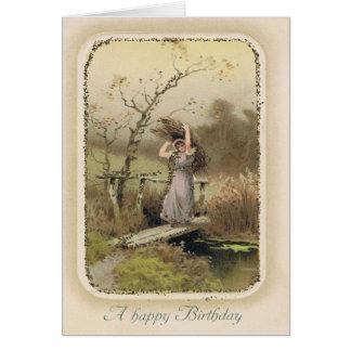 Cartão de aniversário de Snarky do vintage com