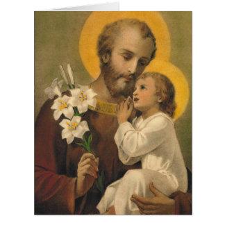 Cartão de aniversário de St Joseph para o amigo