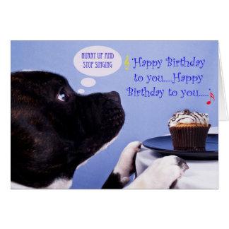 Cartão de aniversário de Staffordshire bull