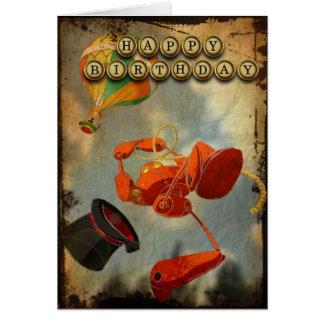 Cartão de aniversário de Steampunk